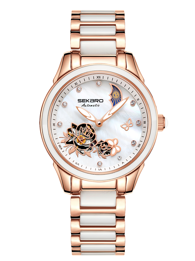 SEKARO 2839 Switzerland watches men luxury brand hollow genuine ladies automatic mechanical watch ceramic waterproof female sekaro 8048 switzerland watches men luxury brand automatic mechanical authentic waterproof sports watch steel table business