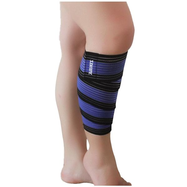 Sports Wrap-around Calf Support Bandage Knee Bandage Leg Skin Protection Band Brace Belt 2pcs