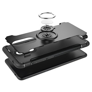 Image 2 - Shockproof Phone Case cover For Xiaomi  6 6X For Redmi Note 5 4X Hybrid Magnetic Bracket Cover car Ring Holder Cover TPU