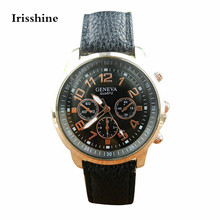 Irisshine OS6 Women watches Stylish New Unisex Leather Band Analog Quartz Vogue WristWatch Watches Men watch student