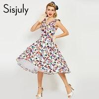 Sisjuly Women Summer Bodycon Vintage Dress Sexy Sleeveless Female Geometric Bodycon Dress 1950s Elegant Women Vintage