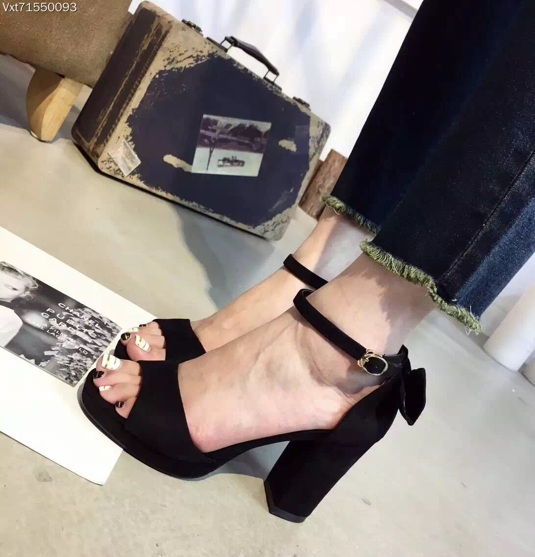 Women Fashion Summer Shoes Black Green Ankle Strap Platform High Heel Sandals Zapatos Verdes Tacon Sandalen