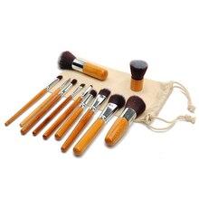 11PCS Brand Makeup Brushes Set Of Brushes For Makeup Beauty Cosmetics Travel Make up With Kabuki Brush Tart Makeup Eyebrow brush