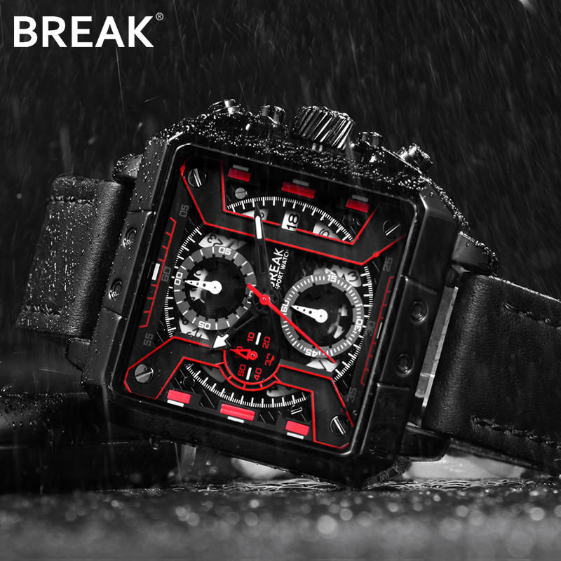 Genuine Leather Watches Men Wristwatches Clock Male Watches Military Quartz Sports Wrist Watch Top Brand Luxury Chronograph Date senors men s quartz watches sports watches waterproof luxury leather strap military watch couple wristwatches clock for men