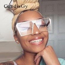 Cool 2017 New Square Hip Hop Fashion Brand Designer Sunglasses Men Women Mirror Sun glasses Lady Flat Oversized size Eyeglasses
