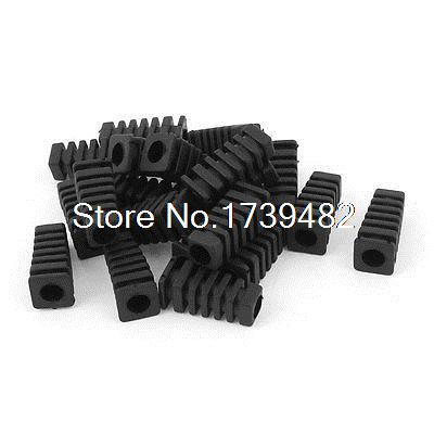 20pcs 27x9x6mm Mini Rubber Square Strain Relief Cord Boot Protector Cable Sleeve20pcs 27x9x6mm Mini Rubber Square Strain Relief Cord Boot Protector Cable Sleeve