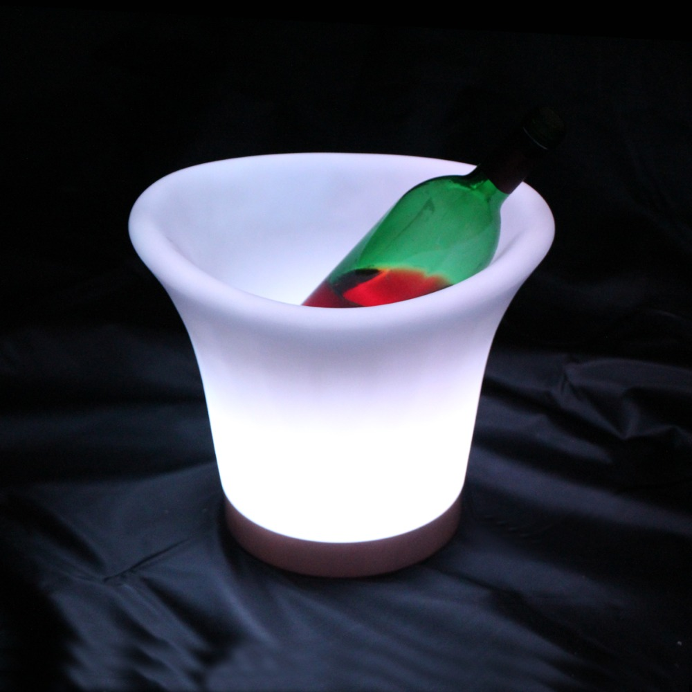 L29.0*W24.8*H24.8cm Waterproof RGB multicolor IP65 illuminated led Ice bucket Bar indoor furniture for sale free shipping 20pcs