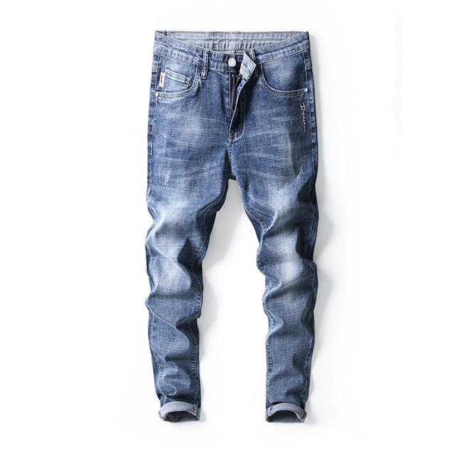 Jantour Skinny Jeans men Slim Fit Denim Joggers Stretch Male Jean Pencil Pants Blue Men's jeans fashion Casual Hombre new 6