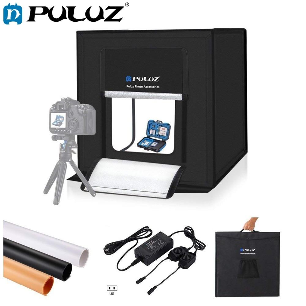 PULUZ 60*60 cm 24 light box Portatile Mini photo studio box softbox 60 w Bianco Luce Photo Illuminazione studio di Ripresa Tenda Box Kit
