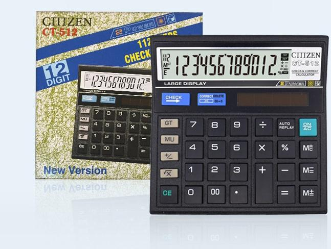 High quality New Office calculator Large computer keys 512 Solar Calculator Desktop calculator