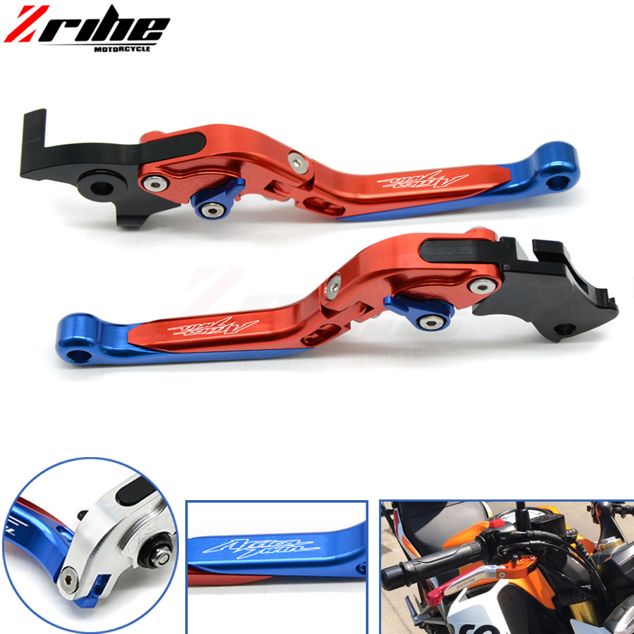 For Honda CRF1000L Africa Twin 2015 - 2017 Foldable Extendable Clutch Brake Levers Folding Extending CNC 2016 Lever Adjustable for ktm rc390 rc200 rc125 125 duke high quality motorcycle cnc foldable extending brake clutch levers folding extendable lever