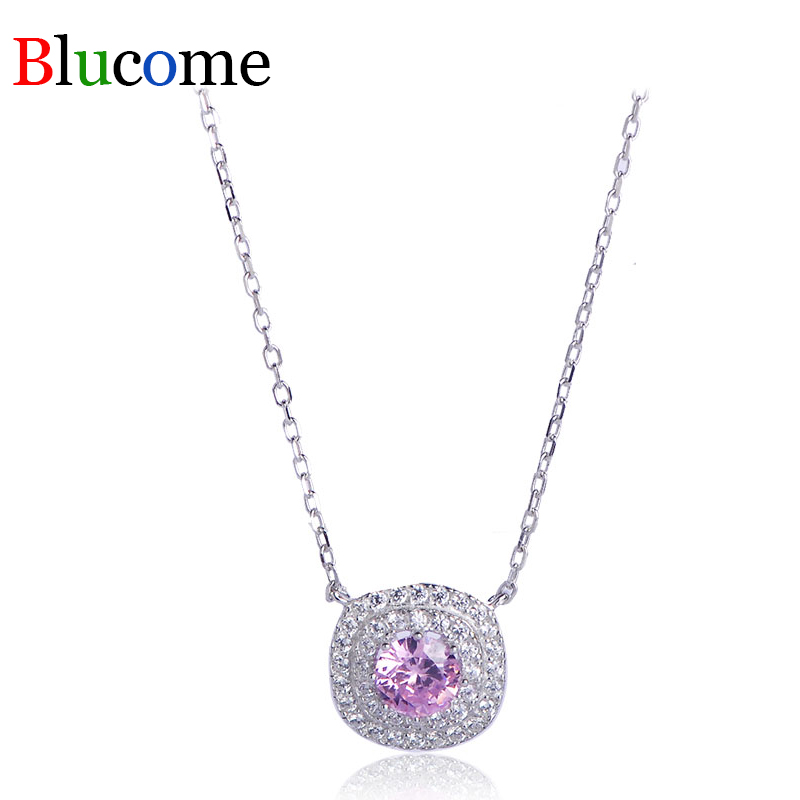 2018 Fashion pearl necklace for women Luxury S925 sterling silver trend girls Round chains necklaces  jewely pendant necklace
