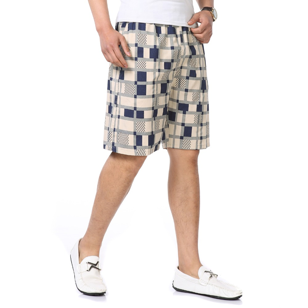 Men Summer Beach Short Khaki Army Green Boardshort Man Leisure Bottoms Male Elastic Wais ...
