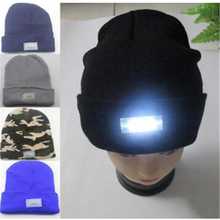5b778618cb3 Trendy 5 LED Lighted Cap Winter Warm Beanie Hats Glow Bright Ski Gorro  Knitting Hat Outdoor