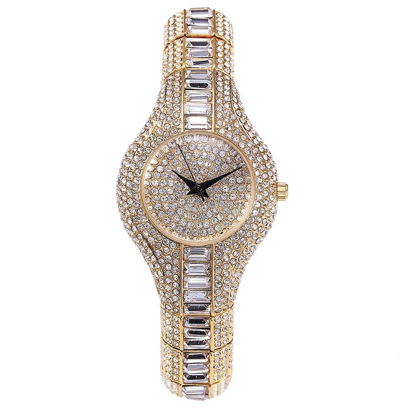 Miss Fox Oostenrijk Crystal dameshorloges luxe dames gouden horloge - Dameshorloges - Foto 5