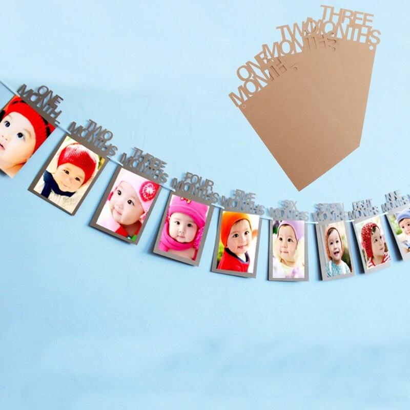 1 12 Monate Baby 1st Birthday Party Bilderrahmen Dusche Bunting ...