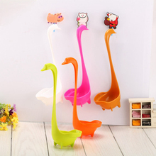 5pcs Colorful Lovely Creative Swan Shaped colored plastic spoons Soup Kitchen tools gadgets Cooking Free Shipping for family