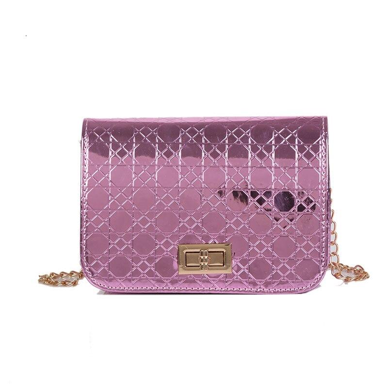 Модные брендовые женские Crossbody сумка женская сумки клапаном Сумки Роскошные Лакированная кожа Сумочка цепи сумка плед Для женщин сумка