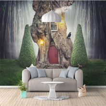 Custom 3d wallpaper Nordic animal dream grass background wall painting high-grade waterproof material