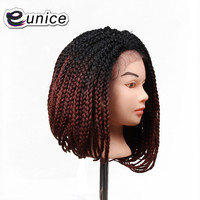 short bob lace front synthetic wigs Natural Black/burgundy Heat Resistant Hair Wig For 14 24inch crochet lace wigs box braids