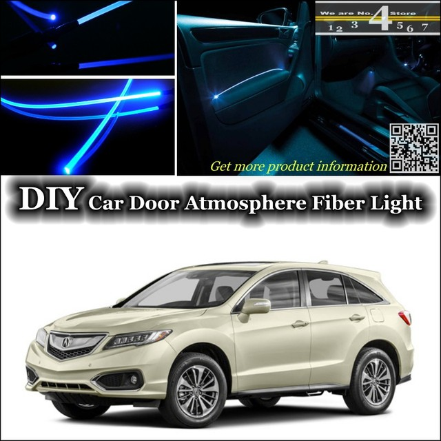 For Acura RDX Interior Ambient Light Tuning Atmosphere Fiber Optic Band  Lights Inside Door Panel Illumination