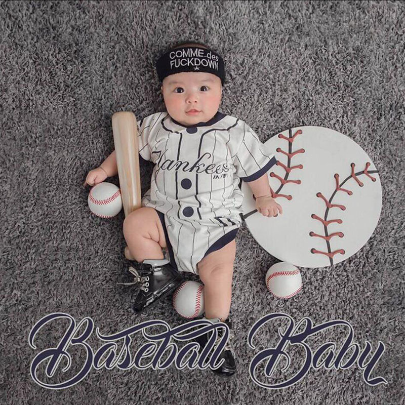 Tiny Baby Photography Props Baseball Backdrop Clothes for Baby Photo Shoot Sport Theme Background Blanket Set fotografia Costume 600cm 300cm fundo clock roof balloon3d baby photography backdrop background lk 1982