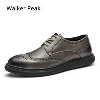 Men's Casual shoes Genuine Leather Business Men Dress Shoes Autumn Winter Classic Waterproof Lace up man Designer Sneakers