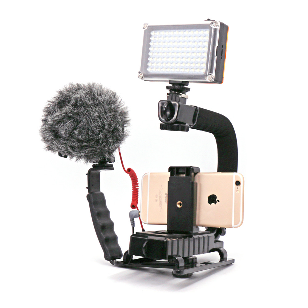 Ulanzi U-Grip Kit Vlogging Action Video Stabilizing Handle Grip Rig for iPhone 7 Plus Canon Nikon Sony DSLR Camera / Camcorder u grip video action stabilizing handle grip rig set with by mm1 videomicro phone led on camera light for iphone canon nikon