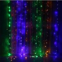 300/600 LED Weihnachten Girlande LED Vorhang String Licht Urlaub Lichterkette Outdoor Hochzeit new year Birthday Party Garten Decor