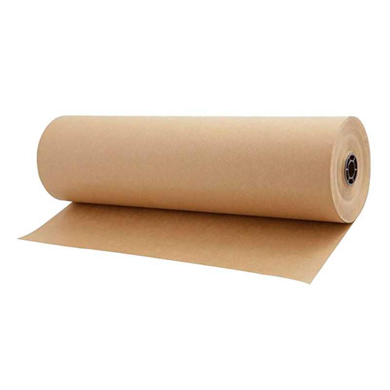 ¡Promoción! 30 metros marrón Papel kraft para envolver rollo para boda cumpleaños fiesta regalo envoltura paquete embalaje arte artesanía 30Cm