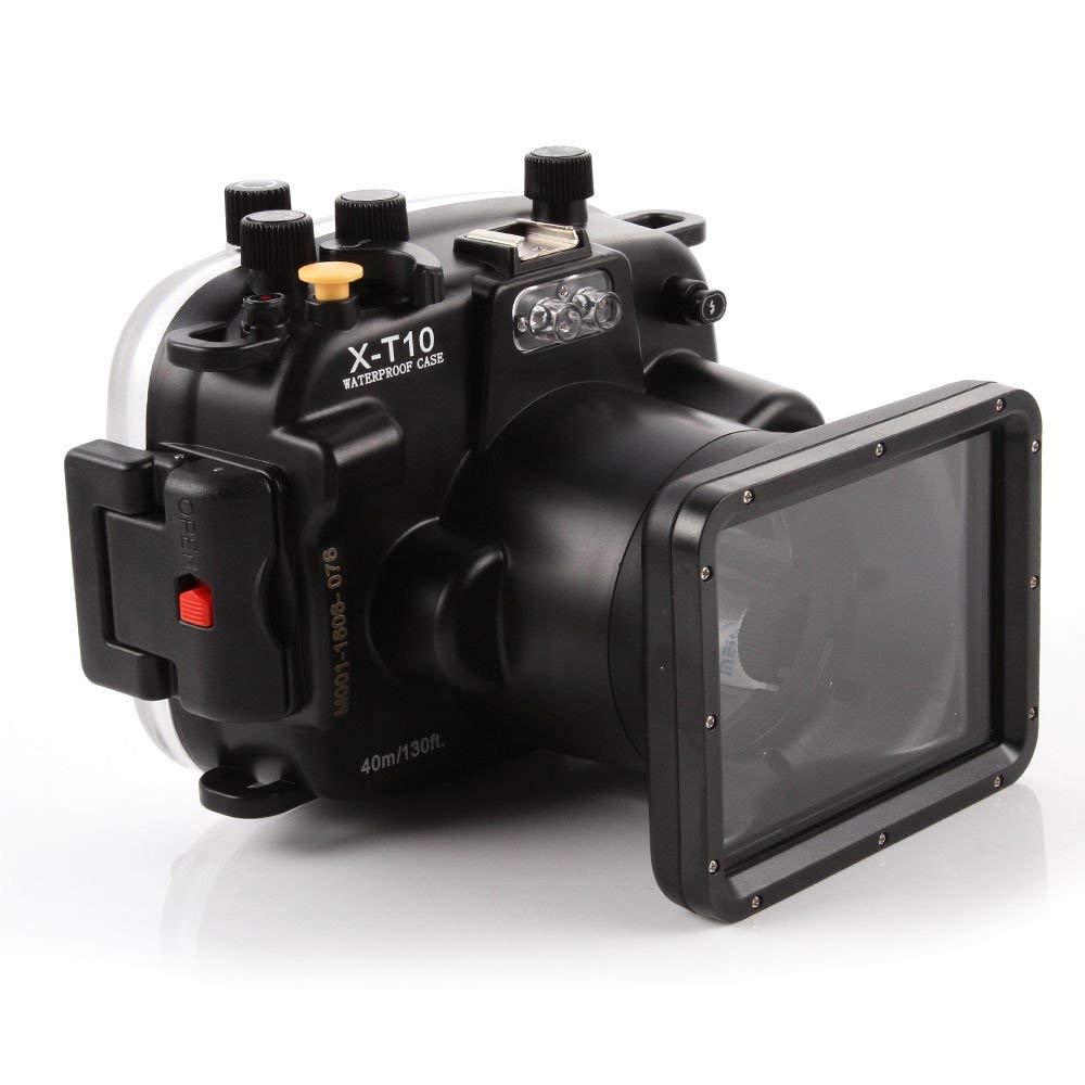 40 meters 130ft Underwater Waterproof Housing Diving Camera Case Bag for Fujifilm Fuji X T10 XT10