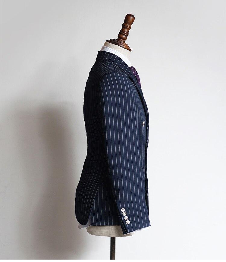(Jope + püksid) 2018 Uus saabumine mereväe triibuline meeste - Meeste riided - Foto 3