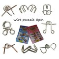 Adult intelligence toys educational toys Chinese puzzle ringopening wire puzzles solution 8 piece set