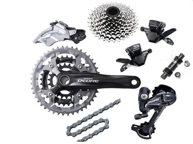 Shimano DEORE M590 shifting system with Alivio M430