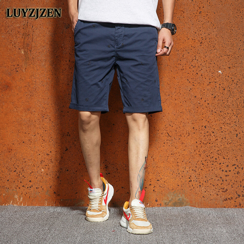 2018 Mens Shorts Fashion Summer Knee-length Male Short Cotton Casual Military Style New Brand Cargo Shorts Men High Quality F63
