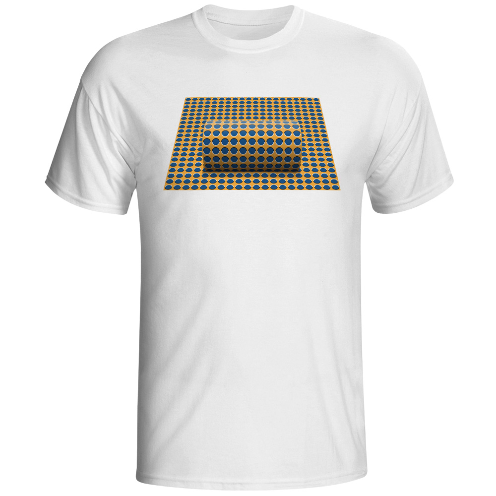 Забавные динамический футболка крутая Мода Повседневное 3D Оптическая иллюзия Футболка для катания на скейте Для мужчин Для женщин хип-хоп ... ...
