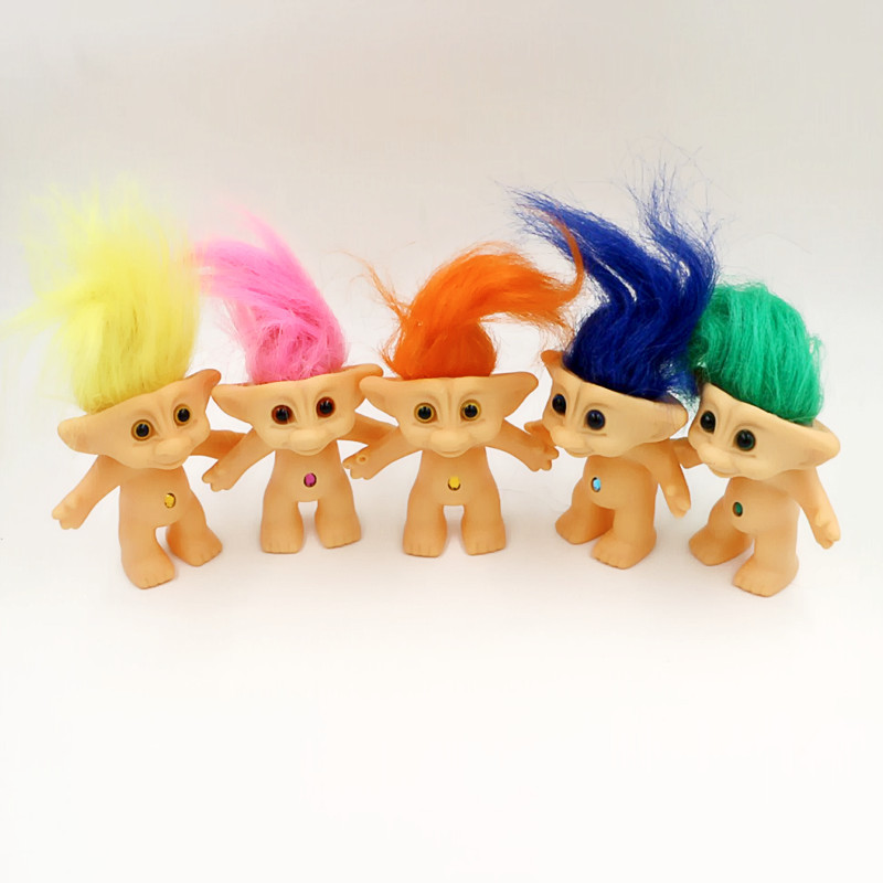 One Piece Kawaii Classic 80S Nostalgia Doll Troll Doll Vinyl Ugly Doll Key Ring Can Be Added Christmas Kids Toys Juguetes