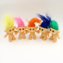 One Piece Kawaii Classic 80'S Nostalgia Doll Troll Doll Vinyl Ugly Doll Key Ring Can Be Added Christmas Kids Toys Juguetes