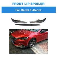 For Mazda 6 GT GX GS GS L Touring Sedan 4 Door 2017 2018 Front Bumper Lip Carbon Fiber