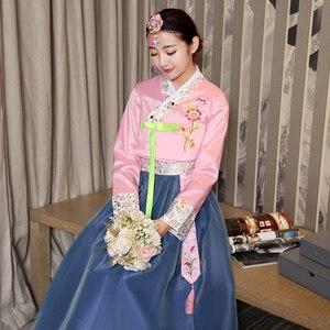 Image 3 - Nuovo Arriva Il 6 di Colore Coreano Tradizionale Abito Da Sposa Coreano Folk Dance Costume di Lusso Asia e Isole del Pacifico Abbigliamento per le Donne