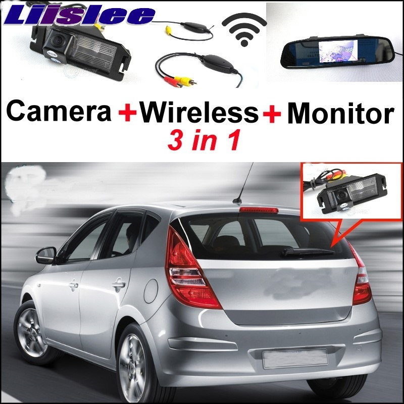 Liislee Special Rear View Camera Wireless Receiver + Mirror Monitor Parking System For Hyundai i30 Elantra Touring GT 2007~2017 for mercedes benz ml mb w164 ml350 ml330 amg ml450 ml500 3in1 car camera wireless mirror monitor parking rear view system
