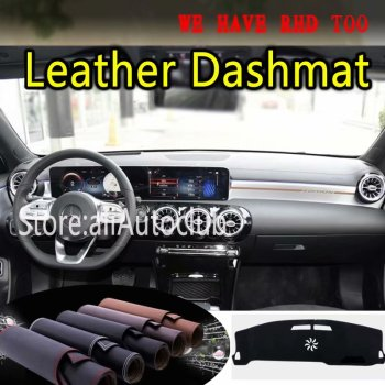 For Mercedes-Benz A-Class A180D A200D A220D A35AMG 2019 2020 Leather Dashmat Dashboard Cover Dash Mat Carpet Custom Car Styling