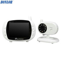 BONLOR 2.4G Wireless Digital 3.5 LCD Baby Monitor Camera Audio Talk Video Night Vision High Resolution Home Security
