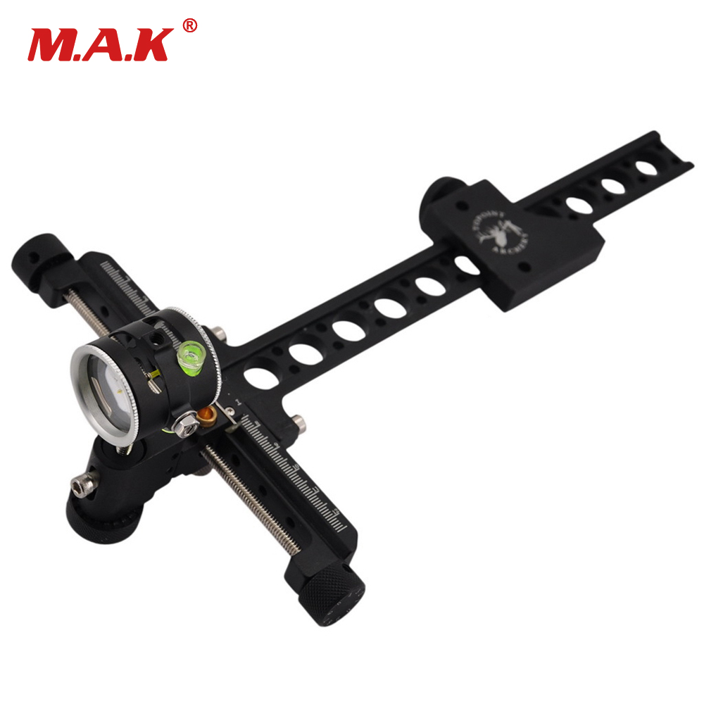 Compound Bow 1 Pin Bow Sight Micro Adjust Long Pole for Hunting and Archery 1 pin 0 059 bow sight micro adjust long pole for archery hunting recurve bow