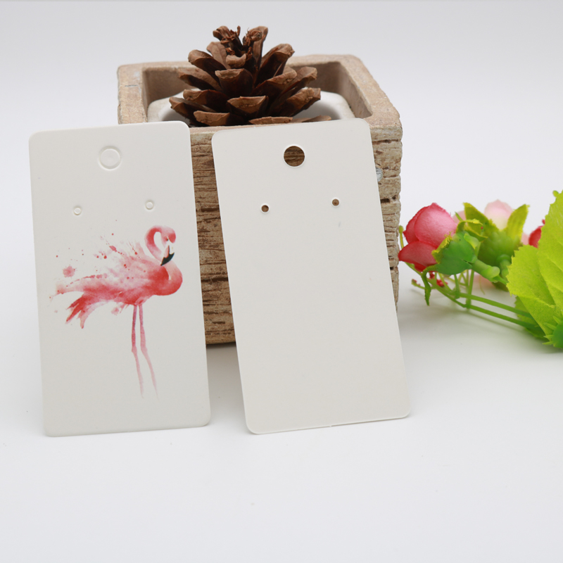 100pcs/lot 4.5x8.5cm Paper Earring Packaging Cards With Beautiful Red Bird For Jewelry Earring Display Lablels Tags Wholesale