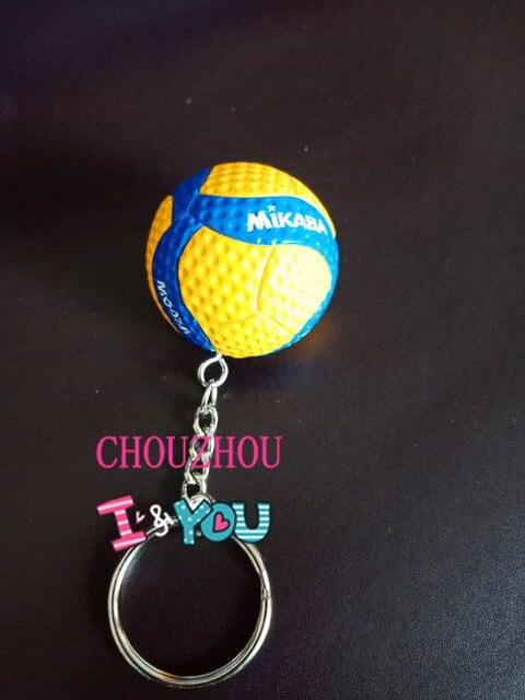 Nuevo llavero de voleibol, llavero de bola, llavero de voleibol, regalo de llavero para coche, regalo de 25 colores para equipo deportivo