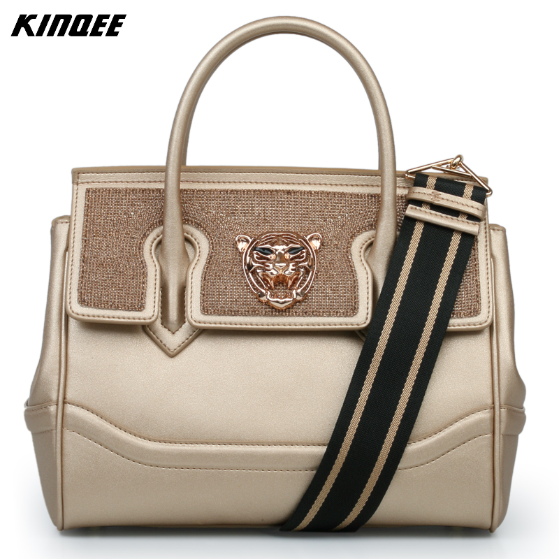 Genuine Leather Handbag Women Cover Luxury Luxury Designer Crossbody Bags Ladies Diamonds Two Straps Totes High Quality Famous 2017 new charming designer genuine leather luxury women handbag high quality ladies hobo bags shoulder crossbody bolsa feminina