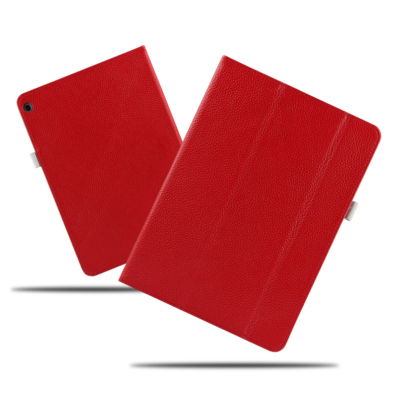 High quality Folio Genuine leather Case Cover For Huawei MediaPad M3 Lite 10 BAH-W09 BAH-AL00 10.1 inch Tablet + Film + Stylus for 2017 huawei mediapad m3 youth lite 8 cpn w09 cpn al00 8 tablet pu leather cover case free stylus free film