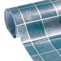 45x200cm Heat Resistance Waterproof Mosaic Aluminum Foil Self-adhensive Anti Oil Wallpaper for Kitchen Home Decor