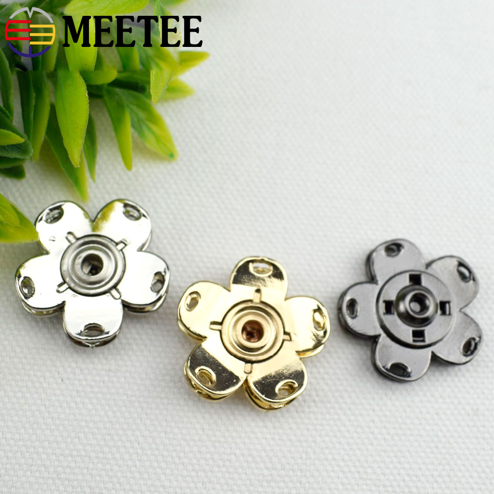 Beautiful 10pcs High-grade Metal Snap Button Coat Suits Clothes Decorative Botones Scrapbooking Sewing Accessories D5-4 We Have Won Praise From Customers Buttons Home & Garden